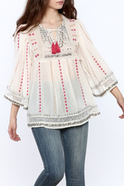 Plenty by Tracy Reese Beige Peasant Blouse