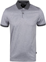 Boss Penrose 05 Light Grey Fine Stripe Polo Shirt