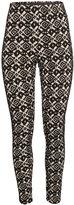 H&M Textured Leggings - Black/white - Ladies
