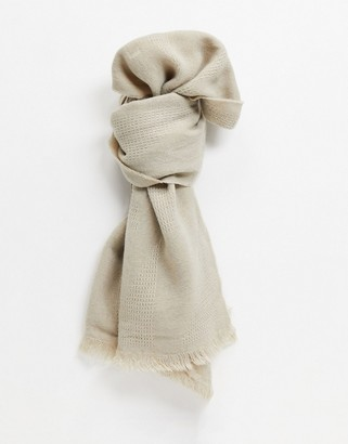 ASOS DESIGN lightweight scarf in cream