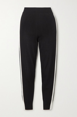 Stella McCartney Striped Knitted Track Pants - Black