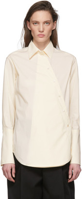 Studio Nicholson Off-White Cross Over Shirt