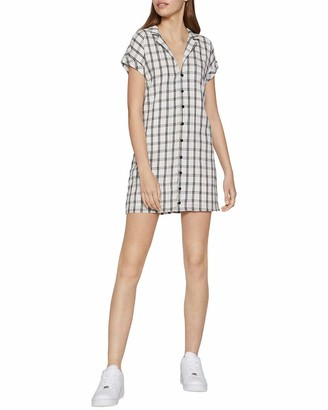 BCBGeneration Women's Short Sleeve Front Button Dress
