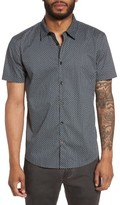 John Varvatos Men's Trim Fit Print Sport Shirt