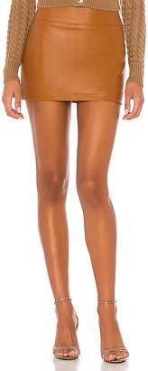 Ronny Kobo Abela Faux Leather Skirt
