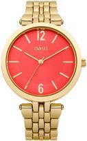 Oasis Gold Orange Dial Watch
