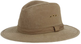 San Diego Hat Company Men's Distressed Canvas Fedora CTH3732