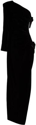 Saint Laurent One-Shoulder Evening Gown