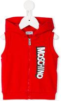 Moschino Kids - hooded gilet - kids - Cotton/Spandex/Elastane - 3-6 mth