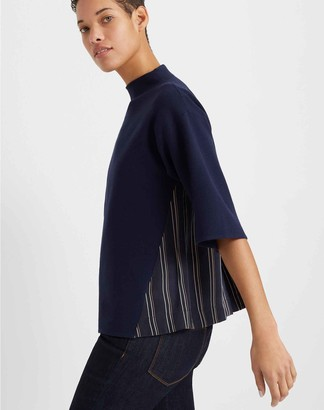 Club Monaco Woven-Back Shell Sweater