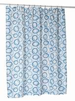 Carnation Home Fashions Circles Stall Printed Fabric Shower Curtain, 54-Inch by 78-Inch