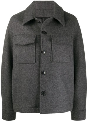 AMI Paris Flap Pockets Buttoned Jacket