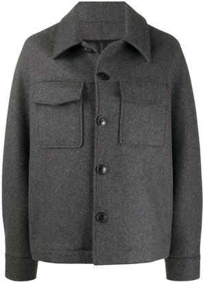 Ami Flap Pockets Buttoned Jacket
