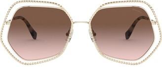Miu Miu la Mondaine oversized frame sunglasses