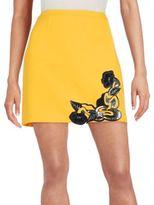 Christopher Kane Art Nouveau Appliqué Skirt