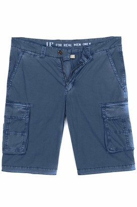 JP 1880 Men's Big & Tall Cargo Shorts Blue Denim 62 720249 92-62