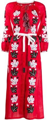 Vita Kin Embroidered Leafs Dress