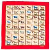 Hermes Equestrian Silk Pocket Square