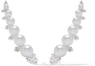 Annoushka 18kt White Gold Diamonds & Pearls Ear Pins