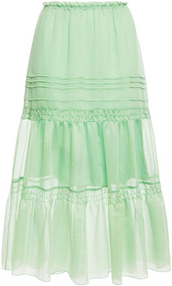 See by Chloe Tiered Organza Midi Skirt