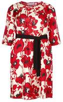 Marina Rinaldi Floral Silk Dress