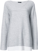 ATM Anthony Thomas Melillo Cashmere Blend Plated V- Neck Sweater