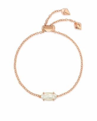 Kendra Scott Everlyne Rose Gold Chain Bracelet In Ivory Pearl