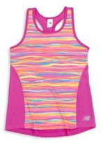 New Balance Girl's Fashion Performance Racerback Tank Top