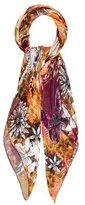 Salvatore Ferragamo Floral Printed Silk Scarf