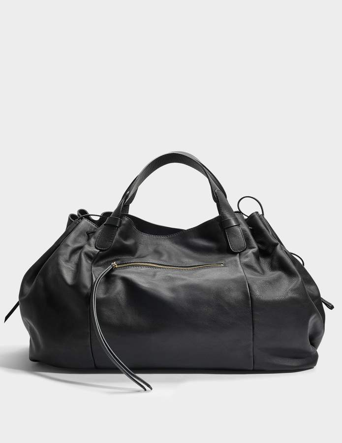 Gerard Darel Maxi GD Bag in Black Calfskin