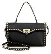 Valentino Rockstud Large Leather Top-Handle Bag