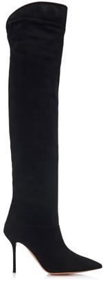 Aquazzura Lancaster Suede Knee Boots