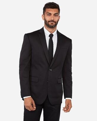 Express Classic Black Cotton-Blend Stretch Suit Jacket