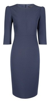 Dorothy Perkins Womens Navy Puff Sleeve Pencil Dress