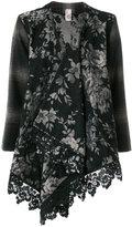 Antonio Marras floral jacquard drape front jacket