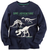 Carter's Long-Sleeve Glow-In-The-Dark Dinosaur Graphic Tee