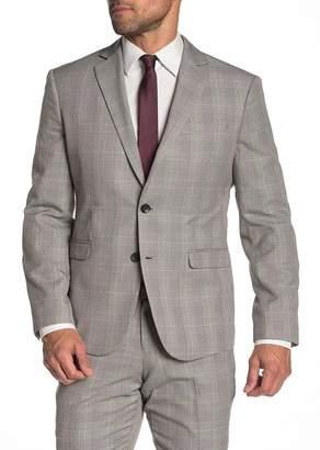 14th & Union Black & White Plaid Two Button Notch Lapel Extra Trim Fit Suit Separates Jacket