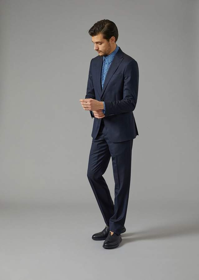 Giorgio Armani Soho Suit In Virgil Wool And Silk