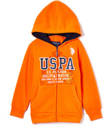 U.S. Polo Assn. Harvest Orange 'USPA' Fleece Zip-Up Hoodie - Boys