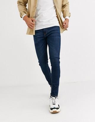 Criminal Damage essential skinny jeans in indigo-Blue