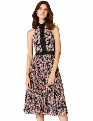 Amazon Brand - TRUTH & FABLE Women's Floral Maxi Halter Dress