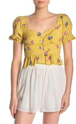 Lush Floral Button Front Shirt