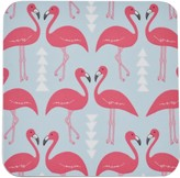 Rosa & Clara Designs Flamingo Flourish Coasters Set Of Four