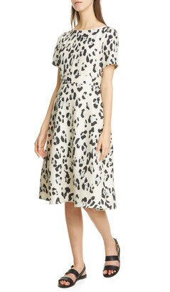 Lafayette 148 New York Amanda Spot Print Silk Dress