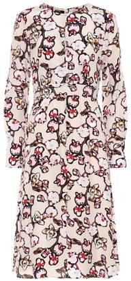 Schumacher Dorothee Daydream Meadow silk-blend dress