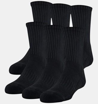 Under Armour Kids' UA Training Cotton Crew 6-Pack Socks