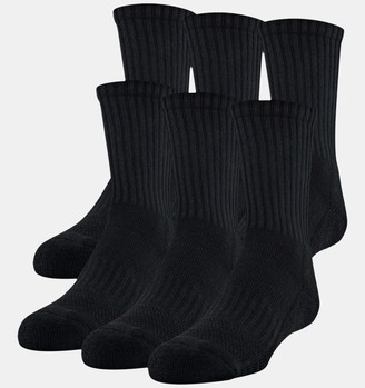 Under Armour Youth UA Training Cotton Crew 6-Pack Socks
