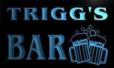 AdvPro Name w008623-b TRIGG Name Home Bar Pub Beer Mugs Cheers Neon Light Sign
