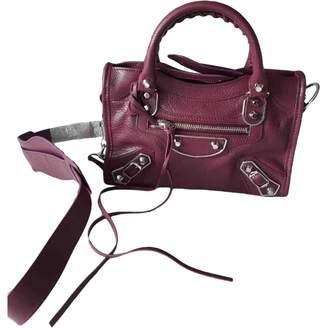 Balenciaga Classic Metalic Purple Leather Handbags