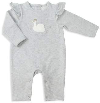 Albetta Girls' Ruffled-Shoulder Crochet-Swan Coverall - Baby